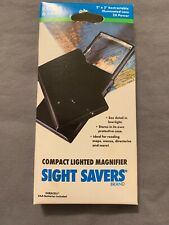 Vintage Working Bausch & Lomb Sight Savers 2x2 Compact Lighted Magnifier Lens