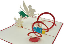Happy Birthday - Tinkerbell 2 -Handmade 3D pop up greeting/gift card - 11x17cm