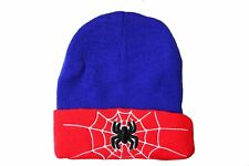 SPIDER  RED BLUE With Brim TOQUE HAT ..FOR KIDS ( 5 - 10 Yrs )..NEW