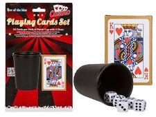 Carte da gioco, 5x Dadi & Dadi Coppa Set ~ CLASSIC CARD BOARD GAME Accessorio ~ NUOVO