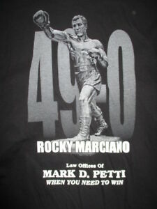 ROCKY MARCIANO Stadium City of Champions (XL) Shirt Law Offices of MARK D PETTI