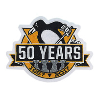 2017 NHL Pittsburgh Penguins 50th Anniversary Official Hockey Game Jersey Patch