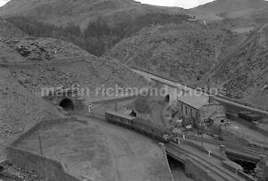 Blaenau Ffestiniog Tunnel DMU 2.20 to Llandudno Jct 14.8.58 Rail Negative RN110