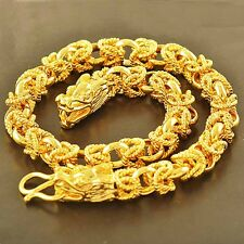 Mens Dragon Bracelet Gold Plated Chain Cool biker Fashion Jewelry