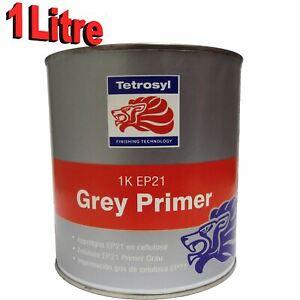 Tetrosyl 1K Cellulose High Build Grey Primer 1 Litre Car Industrial Celly EP21