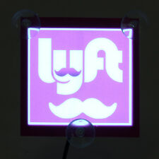 Car LYFT Light LED Glowing Bright Sign Lamp Flashing Logo Decal Indicator