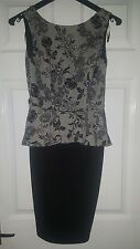 billie and blossom size 8 floral peplum dress