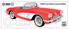 CORVETTE 1958 RED - WALL ART STICKER