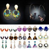 Geometric Acrylic Women Earrings Boho Heart Triangle Jewelry Resin Dangle Drop
