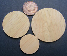 1:12 Scale 3 Round Wooden Chopping Boards Tumdee Dolls House Kitchen Accessory