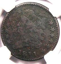 1811 Classic Head Half Cent - NGC VG Details - Rare Key Date Certified Coin