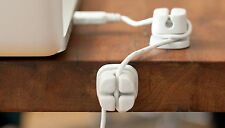CORDLETS WHITE (4pk) Cord Cable Wire organizer desktop wraps QUIRKY computer