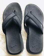 Nike Thong Sandle/Flip Flop Mens 9 EUC Black W/white