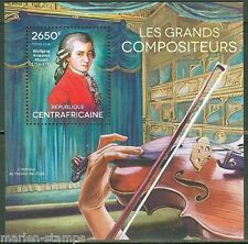CENTRAL AFRICA  2014  GREAT COMPOSERS WOLFGANG AMADEUS MOZART  S/S  MINT NH