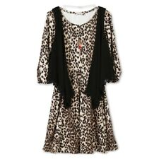 Girls' Lots of Love by Speechless Cheetah Dress, Black Vest & Necklace Set 7, 16