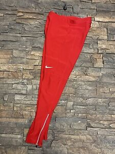 Mens Nike Filament Compression Running Tights Sz M Red 519985