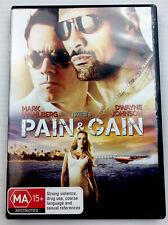 Pain & Gain Mark Wahlberg Dwayne Johnson DVD R4 PAL MA15+ with freePost Tracking