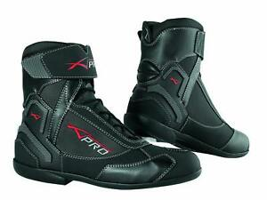 Winter Motorbike Motorcycle Breathable Waterproof Leather Boots A-PRO Black 46