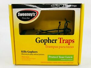 Sweeney's Gopher Traps Twin Pack 59013 Pincher Traps