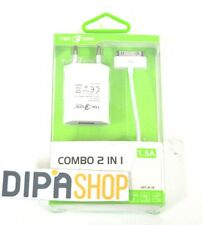 Combo 2in1 TeKone J6-1B Adattatore Rete Usb 1.5A + Cavo Usb Iphone 3G 4 4s hsb