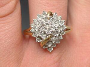 Goldring Ring 333 GOLD 8 Karat bicolor Brillanten Diamanten diamonds Art Deco
