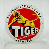 Blech Plakette Tiger Accumulatoren Auto Batterien Oldtimer Schild 50er 60er