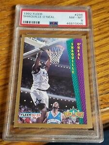 1992-93 Fleer Shaquille O'Neal Rookie RC 298 PSA 8 NM-MT