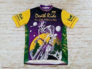 Voler VTG 2001 Death Ride Ebbetts Pass California Made in USA Cycling Jersey XL