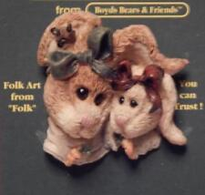 Boyds Hare Pin Alice & Emily, Bunnies, Rabbits