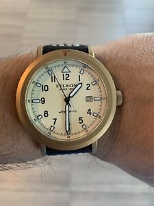 Filson Scout Watch Shinola Made Leather Strap Excellent Condition