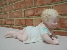 Suzanne McBrayer Signed Artist Doll Bisque Porcelain Crawling Piano Baby 2012