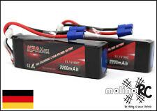2x 2200mAh | 3S | 50C | EC3  Lipo 11,1V | Akku Batterie |  Li-Po KPAmax | BRD 2x