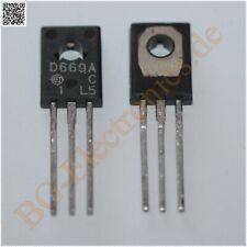 1 x 2SD669A & 2SB649A 2 komplementär Transistoren 20W 1,5A 160V  Hit TO-126 2pcs