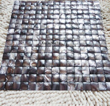 Coffee 3D convex shell mosaic mother of pearl kitchen backsplash background tile