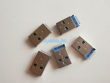5X USB 3.0 Type A 9 Pin 180° Male SMT SMD Panel Mount DIP USB Connector