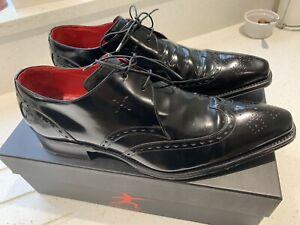 Jeffery-West Shoes - Bela Lugosi 'Renfield' Wing Gibson Polish Black - Size 9.5