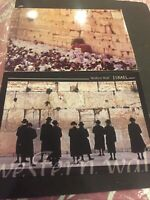 #45 Israel.2 Old Postcards sent to France.Western Wall.