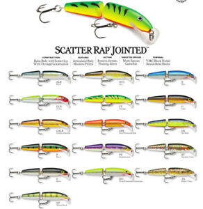 Rapala Scatter Rap Jointed // SCRJ09 // 9cm 7g Fishing Lures (Choice of Colors)