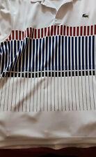 Lacoste Short Sleeve Polo Shirt White Djokovic Mens Size 2 (Extra Small)