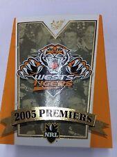 Select 2005 Wests Tigers NRL Premiership Commemorative Card Set (22)