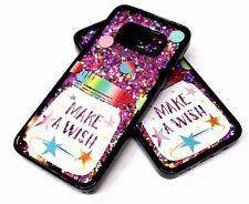 For Samsung Galaxy S8 - WISH JAR STARS ROSE GOLD GLITTER WATER LIQUID SKIN CASE