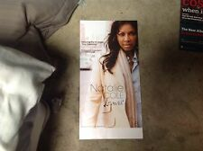 2 Sided Natalie Cole Promo Poster 24x12. music Perforated album Cd lp.