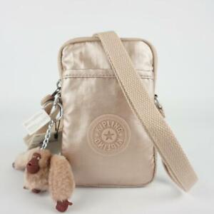 KIPLING TALLY Phone Travel Crossbody Bag Quartz Metallic