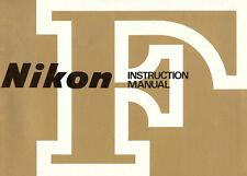 NIKON F MODEL SLR 35mm CAMERA OWNERS INSTRUCTION MANUAL-NIKON-from 1970s