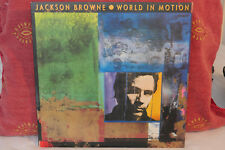 Jackson Browne-World In Motion-1989 US A1.B1.Original Vinyl Record-Elektra-60830