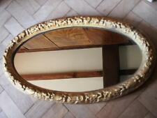 A Very Prety Ornate Decorative Antique Oval Gold Coloured Frame Feature Mirror