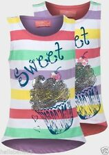 Girls' 100% Cotton Vest Scoop Neck T-Shirts & Tops (2-16 Years)