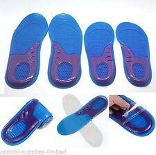 Para mujeres tamaño 2-5 Cojín de Talón Plantillas de Gel de Silicona Zapato Pad Soporte Arco Pie Alta