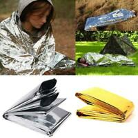 Hypothermia Rescue First Aid Kit Camp Keep Foil Mylar Lifesave Warm Heat Blanket