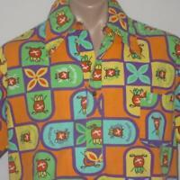 Vintage 70s Evelyn Margolis Hawaiian Airlines Golf Open Aloha Shirt 2XL 1976